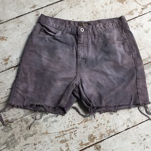 Hand Dyed Cut Off Jean Shorts